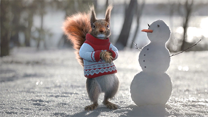 Christmas Squirrels on Channel 1