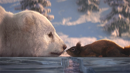 Polar Bear and Squirrel